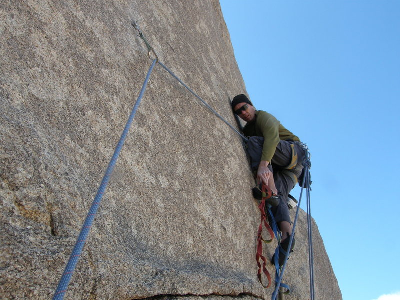 Rock Climbing Photo: Steve Papp on the FA of Handful of Dickie.
