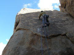 Rock Climbing Photo: Steve Papp on Leading by the Dimple (5.9)