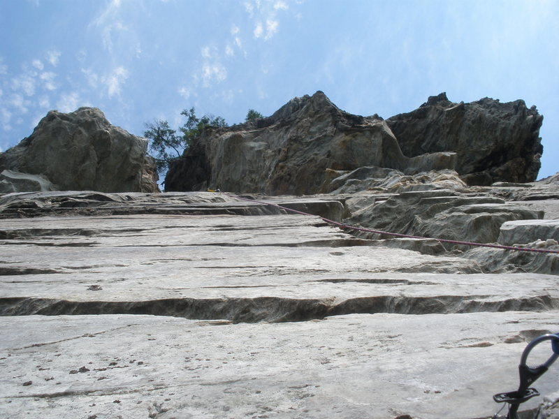 Rock Climbing Photo: Looking up from optional 2nd belay.