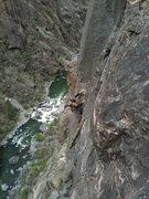 Rock Climbing Photo: Pitch 4 of Atlantis.