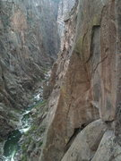 Rock Climbing Photo: Looking back at pitch 6 on Atlantis.
