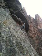 Rock Climbing Photo: Pitch 7 of Atlantis.