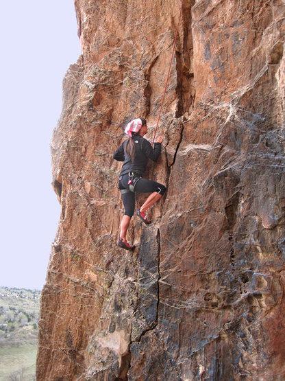 Rock Climbing Photo: Bob's Buttress Crack...the Garden