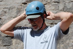 Rock Climbing Photo: finally, Bill has a helmet!!