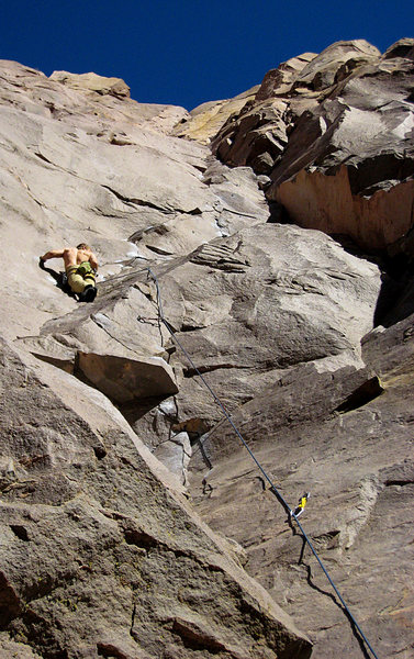 When a climber chick looks up and sees this, it is called a good day of belaying. <br> <br> March 2010