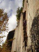 Rock Climbing Photo: Alexa warming up on Mr. Rogers.