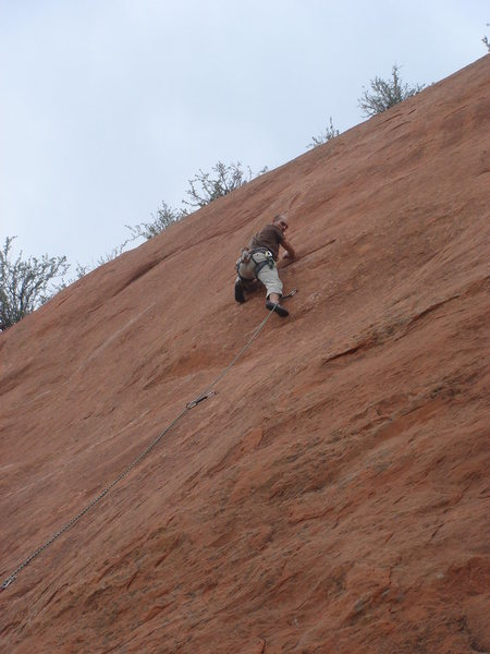 Rock Climbing Photo: Cruising the first tough section.  Photo by Bill O...