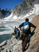 "Rock Climbing Photo: In the Bugaboos, approach to route called ""Th..."