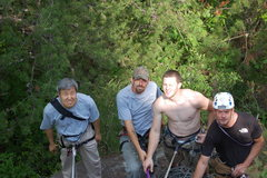 Rock Climbing Photo: Belay ledge on a project. Joseph, Matt, Bradley, A...