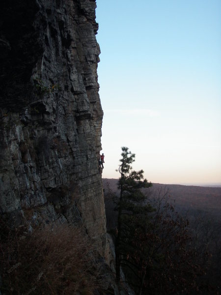 Rock Climbing Photo: Adrian on Madame G's, November 7, 2009