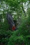 Rock Climbing Photo: Timmy heading up The Big Dill.