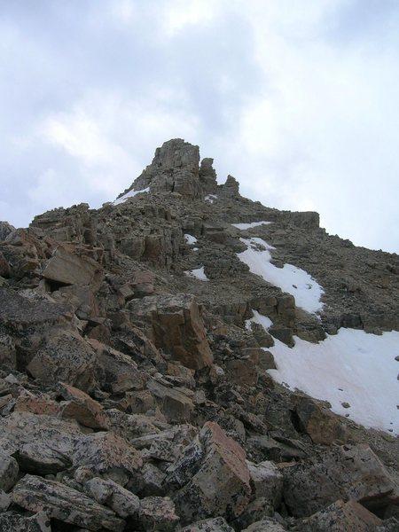 summit block of Beulah from the N. Ridge
