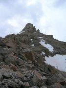 Rock Climbing Photo: summit block of Beulah from the N. Ridge