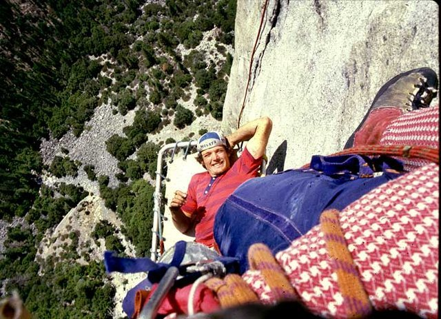 "John ""Yabo"" Yablonski hanging out at the base of the Black Dihedral (I think?)  Those fine pants and EB's are all mine!"