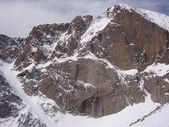 Rock Climbing Photo: East Face of Long's.