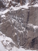 Rock Climbing Photo: Looks like there is ice on Stettner's Ledges.