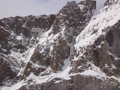 Rock Climbing Photo: Eighth Route with some visible ice towards the low...
