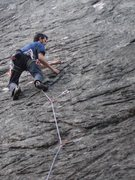 Rock Climbing Photo: pickin away at Diamonds Aren't Forever