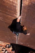 Rock Climbing Photo: Kelsey Gray reconsiders the wisdom of leaving the ...