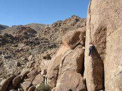Rock Climbing Photo: Tucker Tech on the Haber Crack.