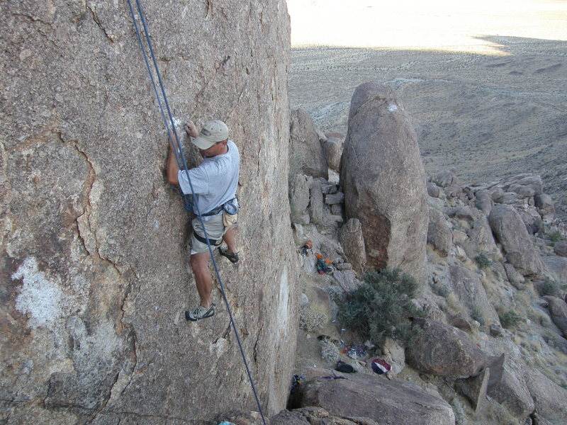 Rock Climbing Photo: Dave Cox on The Gizm Prizm.
