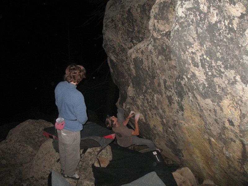Rock Climbing Photo: Se La Vie V1 FA-CA