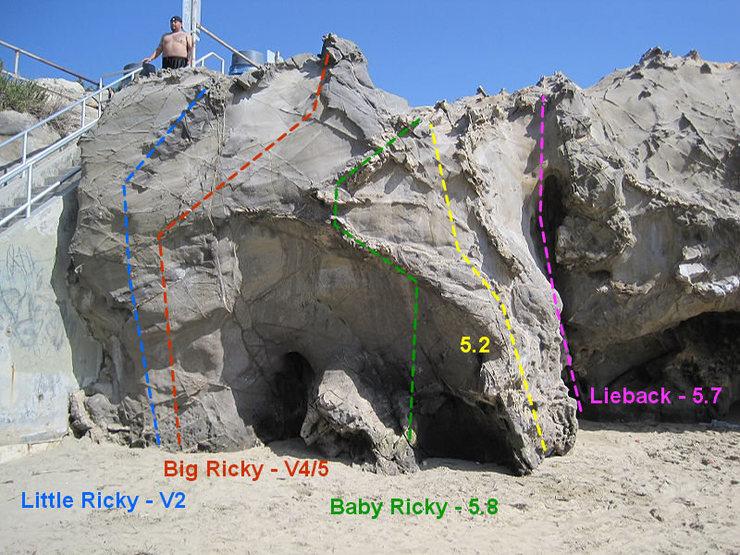Rock Climbing Photo: Baby Ricky - 5.8