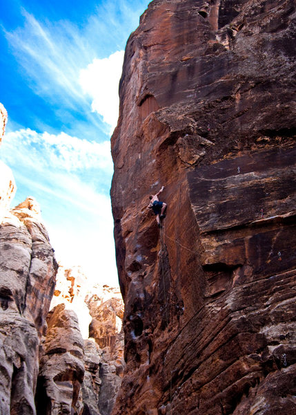 """Rock Climbing Photo: Danny on what I think is called """"Picture Me R..."""