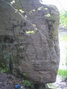 Rock Climbing Photo: sit on the arete and move up and left
