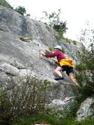 Rock Climbing Photo: Start of the first pitch of La Voie du Fou