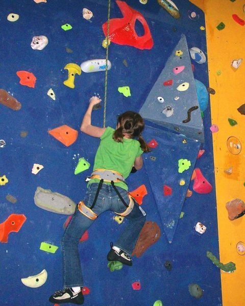 Rock Climbing Photo: working the crimper route