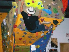 Rock Climbing Photo: the cave route at Xtremeplex gym