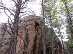Rock Climbing Photo: 25 Degrees V2 FA TH