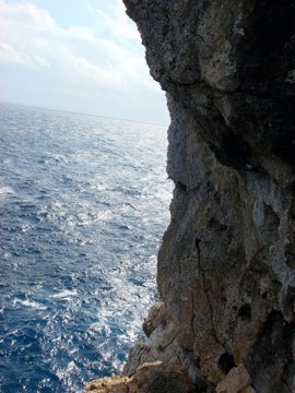 Rock Climbing Photo: View off the point