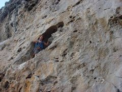 Rock Climbing Photo: Eric in a sweet stance on Calico Jack's