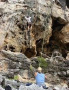 Rock Climbing Photo: Top Rope Action!
