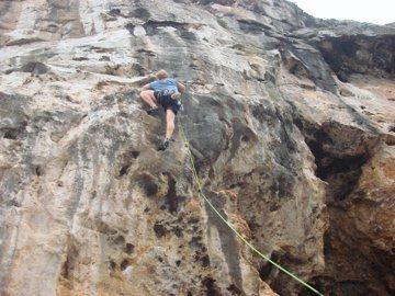 Rock Climbing Photo: Eric on some Buckets