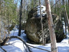 Rock Climbing Photo: The main Frostbite boulder in early spring.