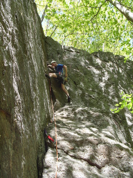 Great trad route left of the dorsel fin