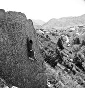 Rock Climbing Photo: Robert finding his way up Super Slab.