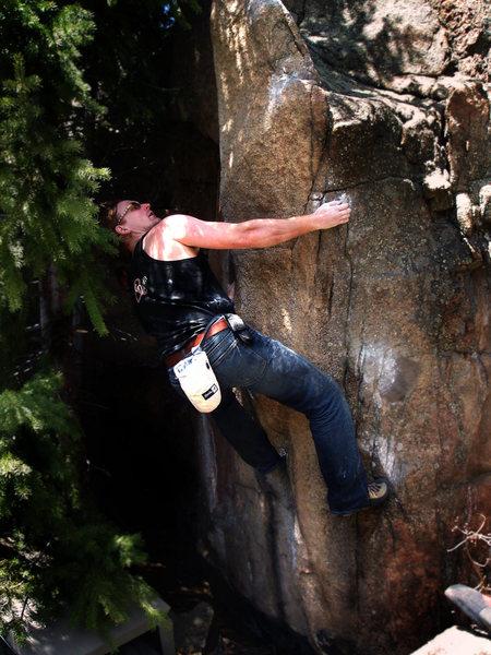 "Rock Climbing Photo: Luke Childers making the F.A. of ""Eco-Boost.&..."