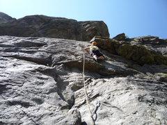 Rock Climbing Photo: Approaching the big flake.
