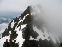 Rock Climbing Photo: Matt prepares to begin the N-S traverse.  Photo co...