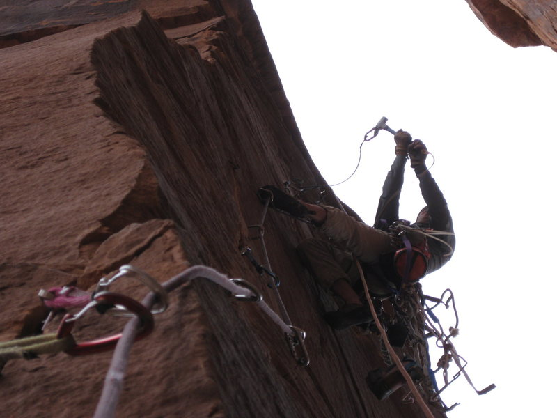 Rock Climbing Photo: Swinging at the sky, strike three, it's out.. and ...