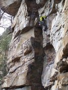 Rock Climbing Photo: Leading Double Feature 5.10c