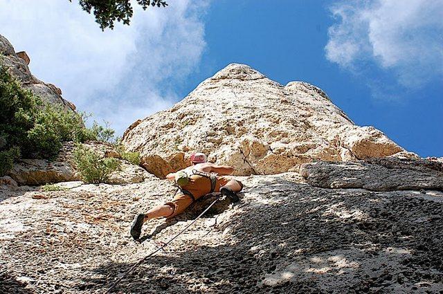 Rock Climbing Photo: approaching the PUMP