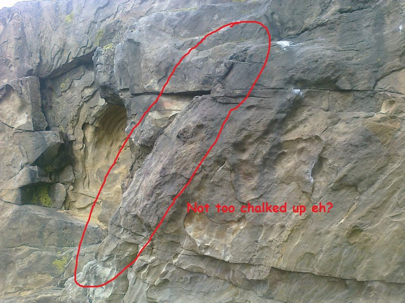 Rock Climbing Photo: Beta.  Not too chalked up, eh?