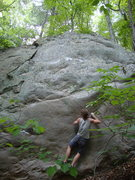 Rock Climbing Photo: A real high-ball! Climb straight up to the highest...