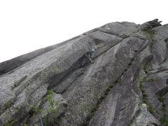 Rock Climbing Photo: The money pitch.