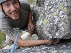 Rock Climbing Photo: Converse was excited to find a bomber hand jam jus...
